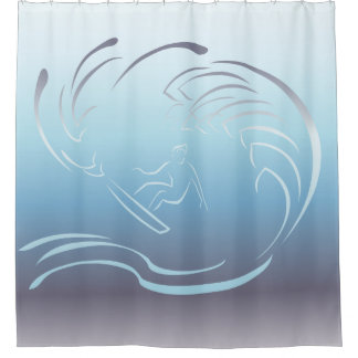Surfer Blue Ocean Wave