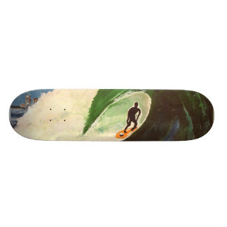 Surfer Bonzai Tuberide Hawaii Skateboard Deck Art