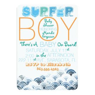 Surfer Boy Baby Shower Invitation