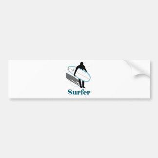 SURFER BUMPER STICKER