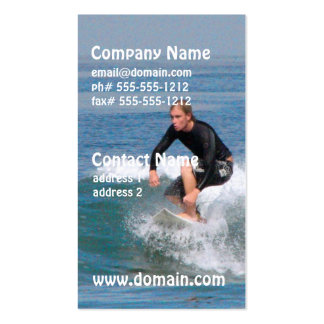 Surfer Carving Business Cards