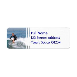 Surfer Carving Return Address Label