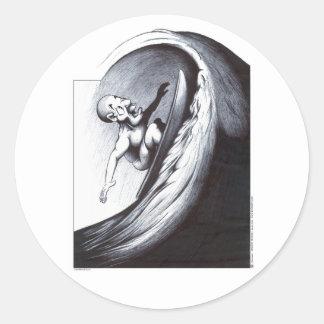 Surfer Classic Round Sticker