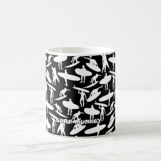 Surfer Collage inversed colors on coffee mug