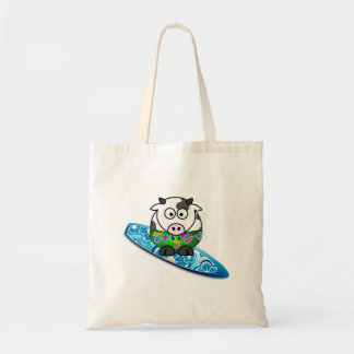 Surfer Cow Tote Bag