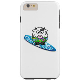Surfer Cow Tough iPhone 6 Plus Case