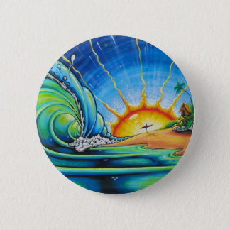 Surfer Design 2 Inch Round Button