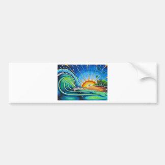 Surfer Design Bumper Stickers