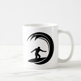 Surfer Design Classic White Coffee Mug