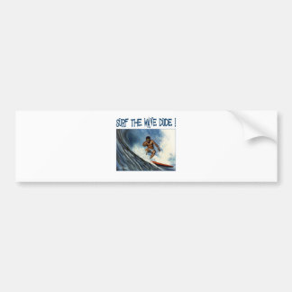Surfer dude bumper sticker