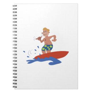 Surfer Dude Spiral Note Book
