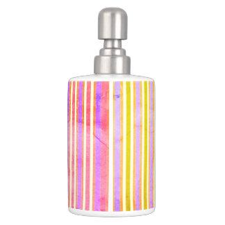 Surfer-Dude-Sun-Stripe's-Multi-Mod-Bath-Decor Soap Dispenser And Toothbrush Holder
