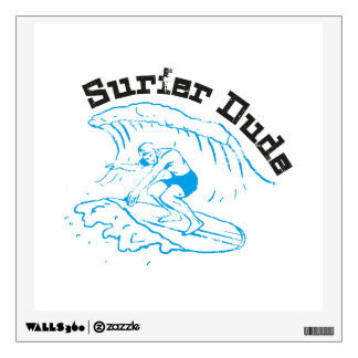 Surfer Dude Wall Decal