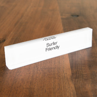 Surfer Friendly.ai Desk Nameplate