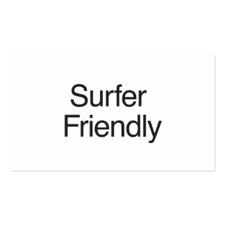 Surfer Friendly Business Cards