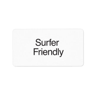 Surfer Friendly Personalized Address Labels