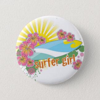 surfer girl 2 inch round button