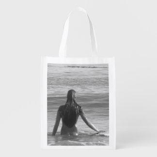 Surfer Girl Canvas Market Tote