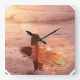Surfer Girl Clock