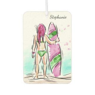 Surfer Girl custom name air freshner Air Freshener