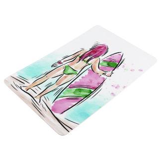 Surfer Girl floor mat