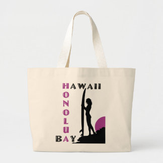 Surfer Girl Honolua Bay Large Tote Bag