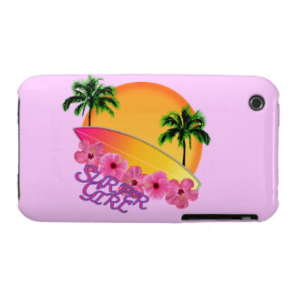 Surfer Girl iPhone 3 Case-Mate Cases