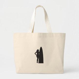 Surfer Girl Large Tote Bag