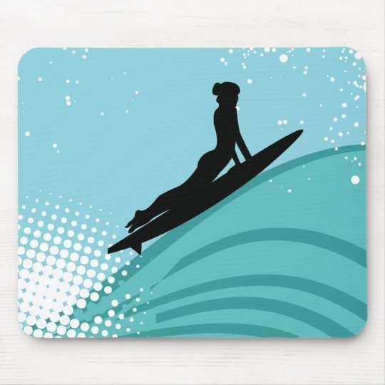 Surfer Girl Mousepad