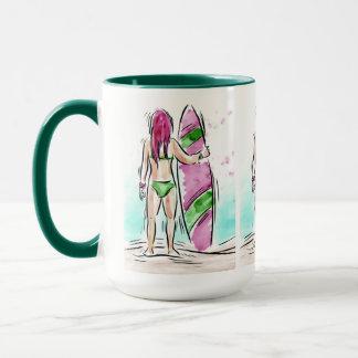 Surfer Girl mugs