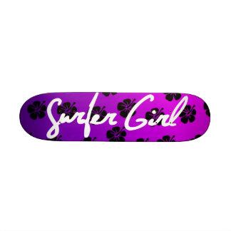 Surfer Girl Skateboard in Purple