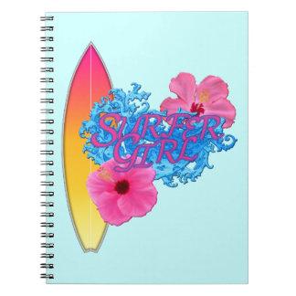Surfer Girl Spiral Notebook