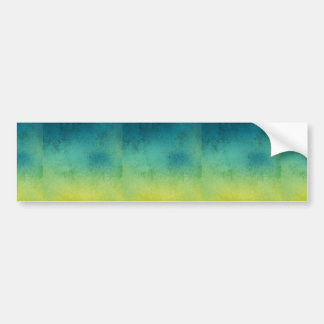 SURFER GRUNGE TYEDYE BLUES GREENS YELLOWS BACKGROU BUMPER STICKER
