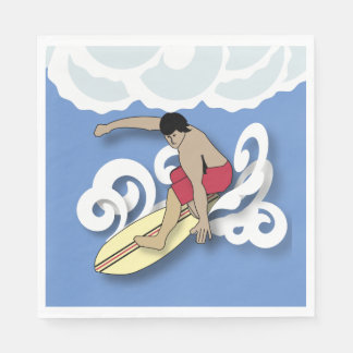 Surfer in a Barrel Paper Napkin