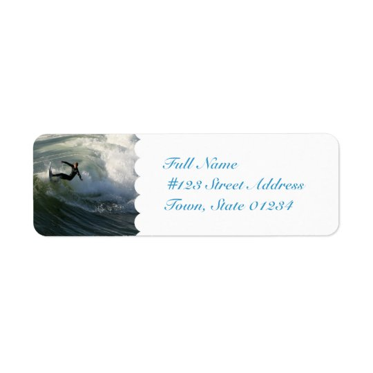Surfer in a Wetsuit Mailing Labels