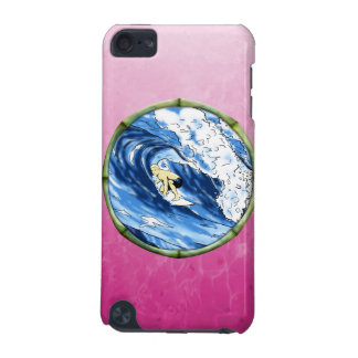 Surfer In Bamboo Circle iPod Touch (5th Generation) Cases