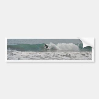Surfer in Cambria, California Bumper Stickers