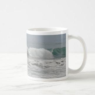 Surfer in Cambria, California Classic White Coffee Mug