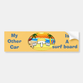 Surfer Kilroy Bumper Sticker Car Bumper Sticker