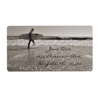 Surfer Shipping Label