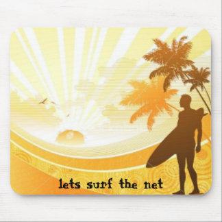 surfer, lets surf the net mouse pad