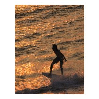 surfer letterhead design