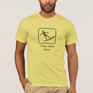 Surfer Logo -- Grey -- Customizable T-Shirt