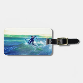 Surfer Luggage Tag