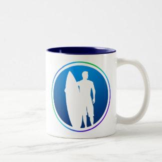 Surfer Two-Tone Coffee Mug