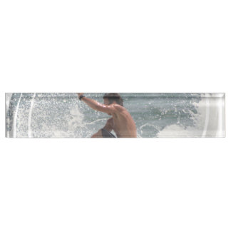 Surfer Desk Name Plate