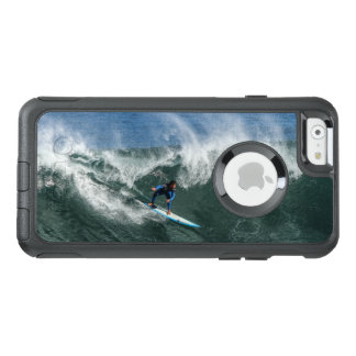 Surfer on Blue and White Surfboard OtterBox iPhone 6/6s Case
