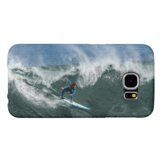 Surfer on Blue and White Surfboard Samsung Galaxy S6 Cases
