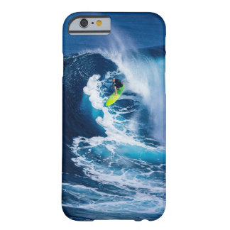 Surfer on Green Surfboard Barely There iPhone 6 Case