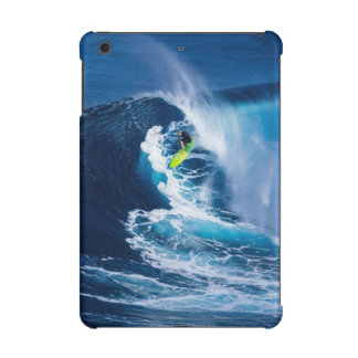Surfer on Green Surfboard iPad Mini Cases